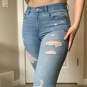 Garage High Waisted Distressed Jeans